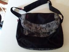 Dakine, Schultasche, Umhänge- Laptop-, Sport- Tasche, schwarz-grau mit Musterung