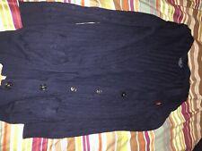 Ralph Lauren Women's Navy Blue Cable Knit Button Up Cardigan Jumper - UK M