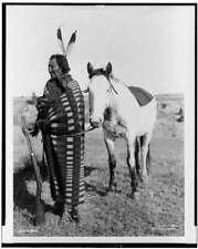 Crow Dog,Sioux,Dakota Indians,horse,rifle,blankets,North America,Natives,c1900