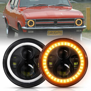 Pair Amber Halo For Holden Torana GTR XU1 A9X LH LX LC LJ SLR5000 LED Headlights