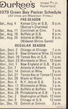 1979 Green Bay Packers Football Schedule jhhp