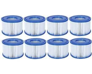 Poolfilter Filterkartusche Poolreinigung   Gr. 6 VI - 8er Set Lay Z Spa Bestway