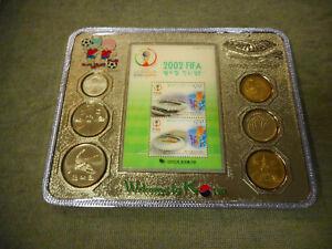 #ZZ12.  CASED KOREAN COINS - 2002 FIFA WORLD CUP