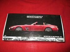 MINICHAMPS® 100 039030 1:18 Mercedes-Benz SLS AMG Roadster 2011 rot metallic NEU