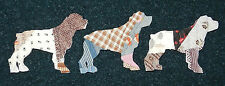 10 ANTIQUE CUTTER QUILT ROTTWEILERS! DOGS! WOW! Scrapbooking! Applique! 1