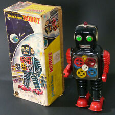 ROBOT BLINK A GEAR R 81 BATTERY OPERATED  TAIYO JAPAN TOY 1960 WITH ORIGINAL BOX