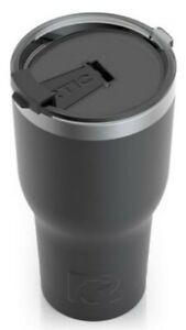 RTIC 30 oz Thermal Tumbler Stainless Steel Coffee Mug Travel Cup (Matte Black)