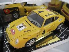 Umbau ! Porsche 911 Carrera in gelb -Rallye  Monte Carlo 1997 - No.4 in 1:18