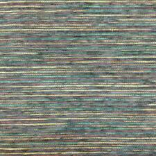 5.375 Yard Piece of Chenille Micro Stripes in Blue / Green / Burgundy /.
