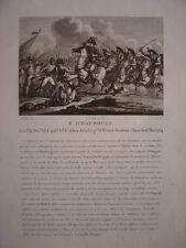 Gravure du Général d' HAUTPOUL Né à Scolette Bataille d'Eylau