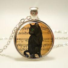 Hot sell!!! 10Pcs black cat floating charm for glass living memory locket#159