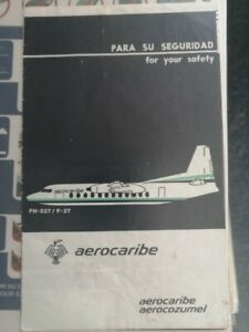 Aerocaribe FH-227  Safety card