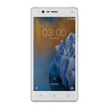 """NUOVO Nokia 3 Bianco 5"""" 16 GB QUAD CORE 2 GB LTE Android 7.0 SIM Gratis Sbloccato UK"""
