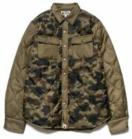 A BATHING APE 1ST CAMO QUILTING JACKET GREEN Size XL BAPE F/S