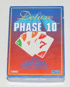 1995 Deluxe Phase 10 Card Game by Fundex Games No. 9420 - 100% Complete
