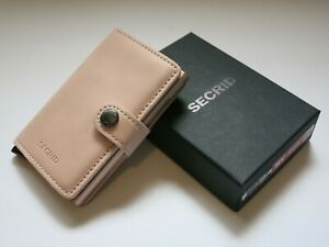 SECRID MINIWALLET Vintage Rose Compact Leather Credit Card Holder Handmade NEW