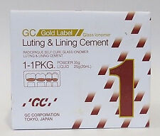 Genuine GC Fuji Gold Label 1  Big Pack Glass Ionomer Luting & Lining Cement
