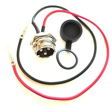 3 Pin Connector Jack Socket For Battery Charger Razor Izip E Scooter Star II