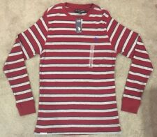 U.S. Polo Assn. Mens Large Long Sleeve Crew Neck Striped Shirt Thermal MSRP $48