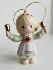 Precious Moments Christmas Ornament 2006 Girl Ringing Bells