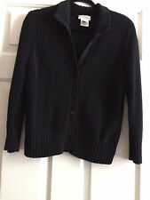 Talbots Knit five-Button Black Jacket. Size: XL.Made in Japan.Pre-owned.