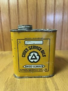 Vintage Cities Service Oils Can