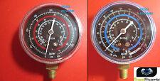 2 MANOMETRI ALTA E BASSA PRESSIONE PER GAS REFRIGERANTE GAS R410A FREON 70 mm