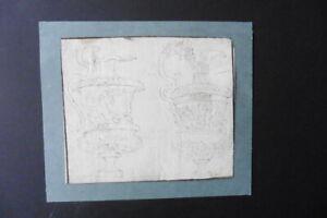 ITALIAN-FLORENTINE SCHOOL 17thC - DESIGNS BAROQUE VASES CIRCLE DELLA BELLA - INK