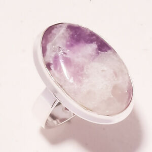 "Lepidolite Handmade Gemstone Ethnic Fashion Jewelry Ring S-6.75"" PUS-2081"