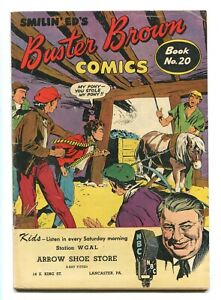 BUSTER BROWN COMICS #20 - BIZARRE SMILIN' ED STORY - WESTERN BACK-UP - 1950