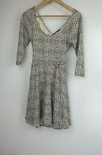 SPORTSGIRL Dress Sz XS Black beige leopard print
