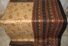 Pure silk Antique Vintage Sari HUCE LOT 4y F23 250 Cream Black DECOR #ABFE3