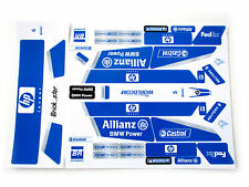 Custom 'Pre-Cut' stickers for LEGO 8461 Williams F1 team racer ,toys, models,etc
