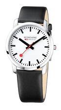 Mondaine Simply Elegant Black Leather Strap Men's Watch A638.30350.11SBB £285