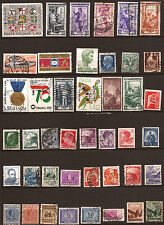 ITALIE 43 timbres oblitérés,faciale en lires, sujets divers 160T5