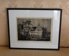 Original Vintage Etching, Andrew AFFLECK, Hand Signed, 1920's, Framed, MINT