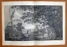 VUE DE L'ILE DE TANNA ARCHIPEL DU VANUATU Gravure Voyage de COOK James 1778