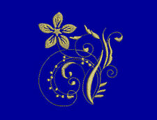 GOLD FLOWERS - 20 MACHINE EMBROIDERY DESIGNS