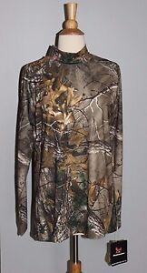 NEW Realtree Camo Women's Size XL Base Layer Top Long Sleeve Shirt Hunting