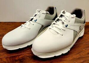Men's FootJoy Pro SL Golf Shoes Waterproof Leather White Size 9.5 M 53811