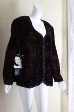 NWT Niteline -Sz XL Fabulous BROWN Velvet Art-to-Wear Evening Exquisite Jacket