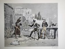 """c71-71 Gravure contes & récits d'Alsace """"le latin de l'oncle Frentzel"""""""