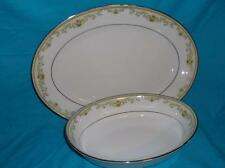 NORITAKE RALEIGH 2487 PATTERN FINE CHINA SERVING PLATTER AND OVAL SERVING BOWL