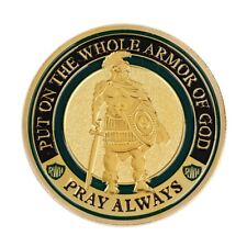 Commemorative Challenge Coin Put On The Whole Armor Of God?Golden Home Decor EW
