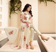 New Design Fancy Dress White Cream Long Full Floral Length Anarkali Salwar Suit