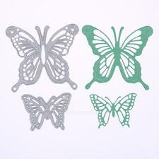 2Pcs Butterfly Frame Cutting Dies Stencil DIY Scrapbooking Paper Card Embossing