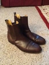 GUCCI MENS BROWN LEATHER ANKLE BOOTS sz 46