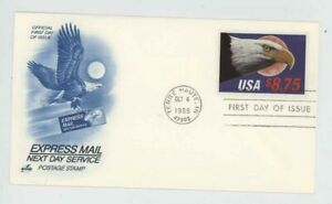 Mr Fancy Cancel Sc 2394 $8.75 Express Mail 10/4/88 First Day Cover #2019