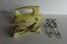 Vintage General Electric Mixer 17M27 GE Yellow Hand Held Made USA Clean Works
