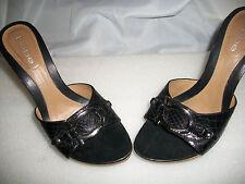 SUPER CUTE BEBE Womens WOOD Sandals HIGH Heels Size 7
